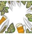 colorful beer menu design template vector image