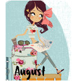 cute cartoon summer girl vector image