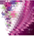 dark purple pink abstract mosaic pattern vector image vector image