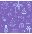 Doodle element summer vector image vector image