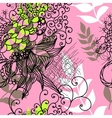 Floral seamless pattern with colorful leaves vector image vector image