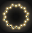 garlands in circle empty vintage banner new year vector image
