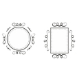 Hand drawn decorative frames isolated on white vector image vector image