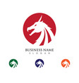 head dragon flat color logo template vector image