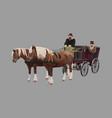 horse-drawn carriage vector image vector image