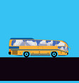 intercity or tourist bus flat vector image