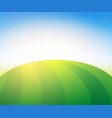 landscape with green pasture farm field vector image vector image