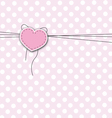 love background with heart vector image vector image