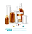 Medical Realistic Background vector image vector image