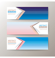 modern abstract design banners template vector image vector image
