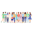 multiethnic people vector image