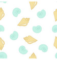 pattern with shells on white vector image