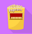 popcorn shop icon flat style vector image vector image