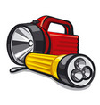 portable flashlight vector image