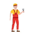 professional working man with spatula vector image