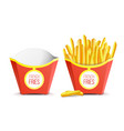 realistic french fries potatoes tasty fast vector image