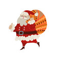 santa claus isolated cartoon flat vector image