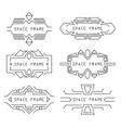 set frames vector image vector image