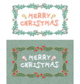 set of christmas cards with christmas decorations vector image