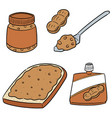set of peanut butter vector image vector image