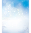sky snow background vector image vector image