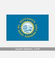 south dakota usa state flag sd usa vector image