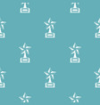 star award pattern seamless vector image vector image