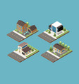 suburban building isometric compositions vector image vector image