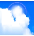 Sun shines vector image vector image