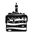 sweet cake icon simple style vector image