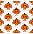 thanksgiving turkey pattern vector image vector image