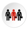 Three employees icon flat style vector image vector image