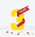 three year anniversary vector image