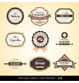 Vintage bakery logo labels and frames vector image vector image
