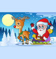 winter scene with christmas theme 1 vector image