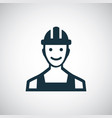 worker icon for web and ui on white background vector image