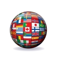 world flags globe image vector image
