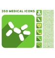 Yeast Icon and Medical Longshadow Icon Set vector image vector image