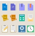 Set a simple flat icons for your design vector image
