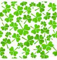 shamrock leaves pattern vector image