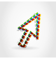 dotted line arrow vector image