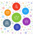 7 leader icons vector image vector image
