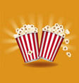 box container with delicious popcorn vector image