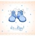 Boy shoes vector image