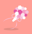 Bridal bouquetin flat style vector image