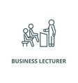 business lecturer line icon business vector image vector image