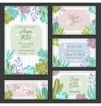 Cactus Wedding Cards Set vector image vector image