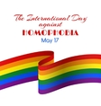 card for international day against homophobia vector image vector image