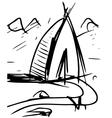 Cartoon wigwam vector image