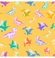 cheerful multi-colored Dinos vector image vector image